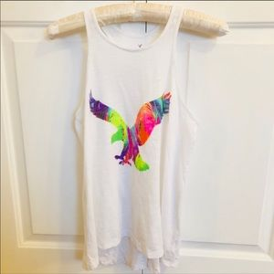 4 / $25 American Eagle graphic rainbow tank top